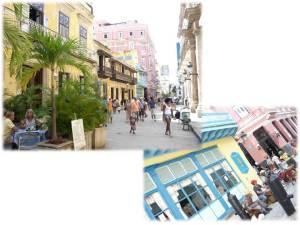 Habana Vieja. Calle Obispo entre Mercaderes y Plaza de Armas