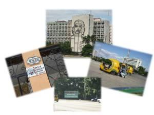 """Plaza de la Revolución, Cocotaxis, Cartel CDR, Uno de los tantos carteles con lemas de la """"Revolución que hay por la Habana"""