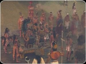 Representación Juego de la Pelota. Parque Xcaret