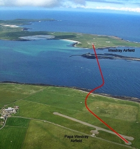 flight-route-Westray-to-Papa-Westray