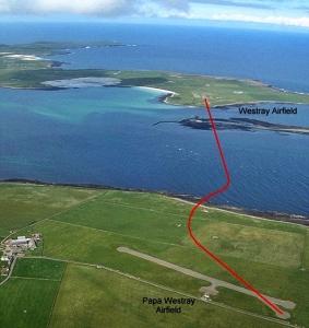 flight-route-Westray-to-Papa-Westray