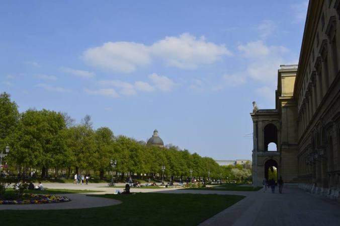 Jardines Odeonplatz