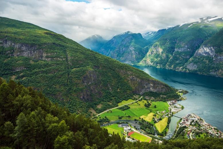 Aurlandsvangen Fjord Scenery